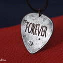 FOREVER -feliratos- szerelem -Vörösréz gitárpengető nyaklánc- fiúknak is, Ékszer, Férfiaknak, Nyaklánc, FOREVER- szerelem -Vörösréz gitárpengető nyaklánc  Kérheted FOREVER, LOVE vagy I PICK YOU felirattal..., Meska