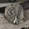 Schechter gitár egyedi monogrammal, Amuletta gitárpengető medál, Férfiaknak, Mindenmás, Ékszer, kiegészítő, Hangszer, zene, Schechter gitár egyedi monogrammal, Amuletta gitárpengető medál. Megrendeléskor, az üzenet az eladón..., Meska