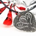 Dupla szív kezdőbetűkkel -karácsonyi ajándék ötlet, Ékszer, Esküvő, Nyaklánc, Dupla szív kezdőbetűkkel  Ajándék ötlet: Karácsonyra, Valentin napra  Alapanyag: Alpakka Forma: gitá..., Meska