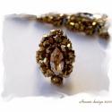 Adagio gyűrű bronz színben, Nagyon mutatós, alkalmi, 2,5 * 3,5 cm nagyságú ...