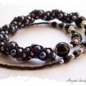 Spirálmintás, elegáns fekete-ezüst nyaklánc, Elegáns, robusztus, tekintélyes nyakláncot fűz...