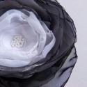 4+1 Bross Akció! Fekete-fehér színátmenetes bross, Nagy divatja van most a virágoknak, és a brossok...