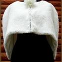 HÓBAGOLY pelerin, Ruha, divat, cipő, Női ruha, Esküvői ruha, Estélyi ruha, Pihe - puha fehér műszőrméből készült ez az exkluzív pelerin, melynek saját tervezésű von..., Meska