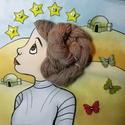 Star Wars Leia hercegnős fonós oldal, Baba-mama-gyerek, Játék, Készségfejlesztő játék, Baba, babaház, Varrás, Fotó, grafika, rajz, illusztráció, A lányos Star Wars csendeskönyv első oldala, a hercegnő haját be lehet fonni, és feltekerni. A gyer..., Meska