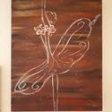 Kecses elegancia, Dekoráció, Képzőművészet, Otthon, lakberendezés, Festmény, Festészet, A festmény 40×50×3,5 cm. Akril festékkel készült alkotás, feszített vászonra festve. A kép teljesen..., Meska