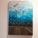 Kék fantázia, Dekoráció, Képzőművészet, Otthon, lakberendezés, Festmény, A festmény mérete: 35×50×2 cm. Akril festékkel készült kép, feszített vászonra festve. Az ..., Meska