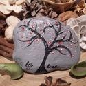 Életfa, Dekoráció, Képzőművészet, Otthon, lakberendezés, Festett kő életfa! Bármilyen méretben és bármilyen színkombinációban el tudom készíteni. ..., Meska