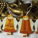 Angyalkák - Karácsonyfadíszek, 4 piros-arany angyalka, ha többet szeretnél a ka...