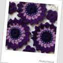 Csillagvirág csokor - Horgolt virágok, Többféle vékony lila fonalból horgoltam ezt a ...