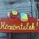 Csipcsirip - Ajtódísz (Anasztazia) - Meska.hu
