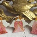 Angyalsereg - Karácsonyfadíszek fából, Karácsonyi, adventi apróságok, Karácsonyfadísz, Karácsonyi dekoráció, Egy 3-as iker, akik  hasonlítanak egymásra, mégis  mások.  Fenyőfából készültek egyedileg kivágva. R..., Meska