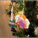 Angyalkák sorozat:  Angelika  - Karácsonyfadísz, Dekoráció, Ünnepi dekoráció, Karácsonyi, adventi apróságok, Karácsonyfadísz, Minden angyalka kézi vágással és festéssel készül. Fenyőfa, akril festék, akril lakk. Próbálom hason..., Meska