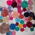 Virágcsokor 1., Dekoráció, Ruha, divat, cipő, Dísz, 50 db különböző színű virág.  Felvarrhatod ruhára, kabátra, táskára, egyébre. Készíthetsz belőle töb..., Meska