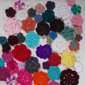 Virágcsokor 2., Dekoráció, Ruha, divat, cipő, Dísz, 50 db különböző színű virág.  Felvarrhatod ruhára, kabátra, táskára, egyébre. Készíthetsz belőle töb..., Meska