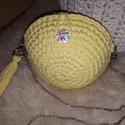 Citrom sárga tavaszi horgolt táska