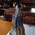 """Tiffany """"Grincs"""" lámpa, Dekoráció, Képzőművészet, Otthon, lakberendezés, Dísz, Üvegművészet, Saját terv alapján készült egyedi lámpa. Üvegből Tiffany technikával előállított. 66 cm magas az ol..., Meska"""