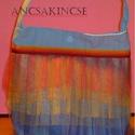 Kislányod tüllös táskája, RainbowDash(Én kicsi pónim), Táska, Válltáska, oldaltáska, Szatyor, Varrás, A képen látható kis táskát saját magam varrtam és díszítettem. Hatréteg tüll található rajta, ami m..., Meska