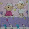 Babaágynemű, Baba-mama-gyerek, Otthon, lakberendezés, Baba-mama kellék, Lakástextil, A takaró és a párna 3 rétegből áll,felül bárány mintás pamutvászon,középen vatelin ,alu..., Meska