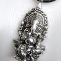 Buddha elefánt  bőrnyaklánc férfiaknak, Ékszer, óra, Férfiaknak, Magyar motívumokkal, Nyaklánc, Ékszerkészítés,   3 mm vastag hengerelt marhabőrszálból készült   nyaklánc. Nem csak férfiaknak,bevállalósabb hölgy..., Meska