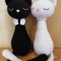 Horgolt menyasszony és vőlegény cicák , Esküvőre kísérő, kiegészítő ajándékot aj...