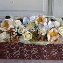 Esküvői dekoráció rusztikus stílusban., Esküvő, Otthon, lakberendezés, Esküvői dekoráció, Asztaldísz, Egyedi megrendelésre készítettem ezt a rusztikus mégis romantikus asztaldíszt, kedves megrendelőm eg..., Meska