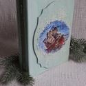 Karácsonyi mese- könyvdoboz, Baba-mama-gyerek, Otthon, lakberendezés, Dekoráció, Gyerekszoba, Régi álmom,hogy kedves karácsonyi könyvet készítsek, most végre sor került rá.Kedves macis ..., Meska