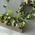 Green apple kollekció. Tavaszi dekoráció szettben., Dekoráció, Otthon, lakberendezés, Ajtódísz, kopogtató, Üde zöld , mint a tavaszi rügyfakadás. Saját készítésű modern ládánkba készítettem ezt a tavaszi kom..., Meska