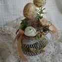 Tavaszi-húsvéti dekoráció. And-art mód., Dekoráció, Otthon, lakberendezés, Ünnepi dekoráció, Húsvéti díszek, Kedves kis asztali dekorációt készítettem,mely többféle színben elérhető. Válaszd ki melyiket szeret..., Meska