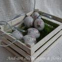 """Húsvéti tojás kínáló..., Dekoráció, Otthon, lakberendezés, Ünnepi dekoráció, Tárolóeszköz, Famegmunkálás, Festett tárgyak, Készítettünk fenyőfából egy igazi """"farmhouse"""" stílusú húsvéti asztali kínálót. Melyben elhelyezhete..., Meska"""