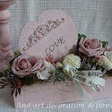 Valentin napra, szeretettel..., Dekoráció, Esküvő, Otthon, lakberendezés, Ünnepi dekoráció, Nem csak a vörös rózsával lehet kedveskedni Valentin napon. Vintage és Shabby chic stílusban készíte..., Meska