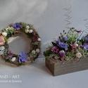 Tavasz lilában kollekció...Új tavaszi - nyári dekoráció, szettben, Dekoráció, Otthon, lakberendezés, Ajtódísz, kopogtató, Asztaldísz, Kedvenc szettem következő variációja a lila kedvelőknek kedvez. Üde árnyalatok és mozgalmas természe..., Meska