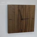 Modern falióra, különleges fafajból., Esküvő, Férfiaknak, Otthon, lakberendezés, Falióra, óra, Modern, letisztult stílusban készített fali óra. Különleges fafajok minőségi furnérjából készült. Se..., Meska
