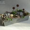 Modern őszi asztaldísz.  And-art mód., Modern asztaldíszt készítettem a beton hatású...