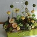 Tavaszi dekoráció-otthondísz., Kézi festésű fa ládánkat kicsit vintage-ruszt...
