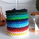 Színes nyakláncok , Ékszer, Nyaklánc, Horgolás, A horgolt nyakláncokat 13 féle színben és 2 féle méretben készítem pólófonalból. Mindkét oldalán ho..., Meska