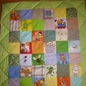 Gyerek takaró Akció!, Gyerek & játék, Gyerekszoba, Falvédő, takaró, Varrás, Tarkabarka  kockás,  színes  takarót készítettem kislánynak, vagy kisfiúnak. pamutvászon anyagokból..., Meska