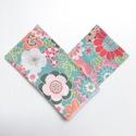 2 db tavaszi puha női, kislány gyerek zsebkendő újrahasznosított, virágos pamut anyagból az allergia szerzonra, Fehér, sárga, rózsaszín, kék, magenta virág ...