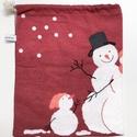 Nagy méretű ajándék csomagolás - hóemberes zsák jó gyerekeknek és felnőtteknek karácsonyi meglepetéseknek, mikulásra, Utolsó darab! Ha te is elkötelezett vagy a zöld...