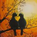 Together-együtt, Művészet, Festmény, Akril, Festészet, Feszített vászon, akril, 25×30×1,5cm-es, felülete kezelve. Ezt a képet a közelgő Valentin nap ihlet..., Meska