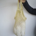 Horgolt hálós táska, Táska, Divat & Szépség, Táska, Horgolás, A táska közepesen vastag,zöld színű, 100%pamut fonalból készítettem.  40 fokon mosható  Magasság 55..., Meska