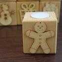 Mécsestartó , fa mécsestartó, Dekoráció, Otthon, lakberendezés, Ünnepi dekoráció, Karácsonyi, adventi apróságok, Karácsonyi dekoráció, Gyertya, mécses, gyertyatartó, Lucfenyőből készült mécsestartó sokféle mintával . Karácsonyra , dekorációnak . Méretei:..., Meska