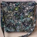Kék-bubis táska, Táska, Válltáska, oldaltáska, Desinger pamutvászonból  készült a táska.Szivaccsal van bélelve ami nagyon jó tartást ad a t..., Meska