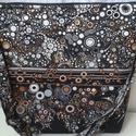 Fekete-szürke bubis táska, Táska, Válltáska, oldaltáska, Desinger pamutvászonból  készült a táska.Szivaccsal van bélelve ami nagyon jó tartást ad a t..., Meska