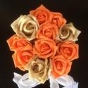 Rózsabox narancs-barna, Esküvő, Dekoráció, Csokor, Esküvői dekoráció, Virágkötés, A képen látható csodálatos virágbox kiváló választás ünnepi alkalmakra. Lehet csodás esküvői dísz, ..., Meska