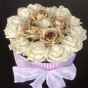 Rózsabox nagy, Esküvő, Dekoráció, Csokor, Esküvői dekoráció, Virágkötés, A képen látható csodálatos virágbox kiváló választás ünnepi alkalmakra. Lehet csodás esküvői dísz, ..., Meska