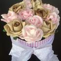 Rózsabox , Esküvő, Dekoráció, Csokor, Esküvői dekoráció, Virágkötés, A képen látható csodálatos virágbox kiváló választás ünnepi alkalmakra. Lehet csodás esküvői dísz, ..., Meska