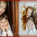 Portréfestés fénykép alapján - olajfestékkel, Képzőművészet, Festmény, Olajfestmény, Portré készítés fénykép alapján!   30x40 cm-es feszített vászonra olaj festékkel festve.  AZ ÁR EGY ..., Meska