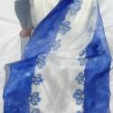 Kék hosszú selyem sál (Andrea85) - Meska.hu