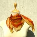 Halloween tökös selyemkendő, Ruha, divat, cipő, Női ruha, Kézzel festett narancsos, rozsdabarnás selyemkendő, jópofa halloween tökkel :) Igazán egyedi, nagyon..., Meska