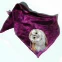Gyöngybaglyos selyemkendő, Egy gyöngybagoly néz rád aranyosan ennek a sely...